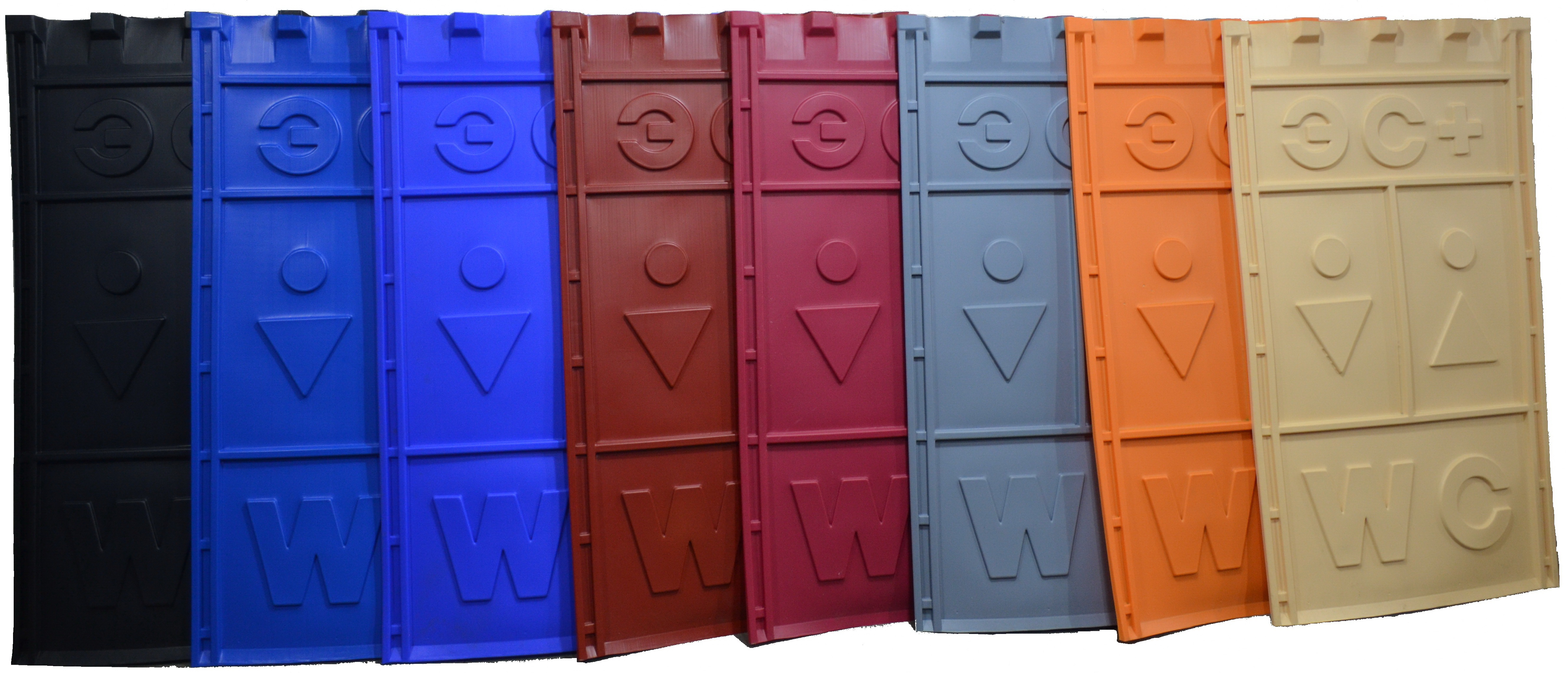 цветные панели для туалетных кабинок